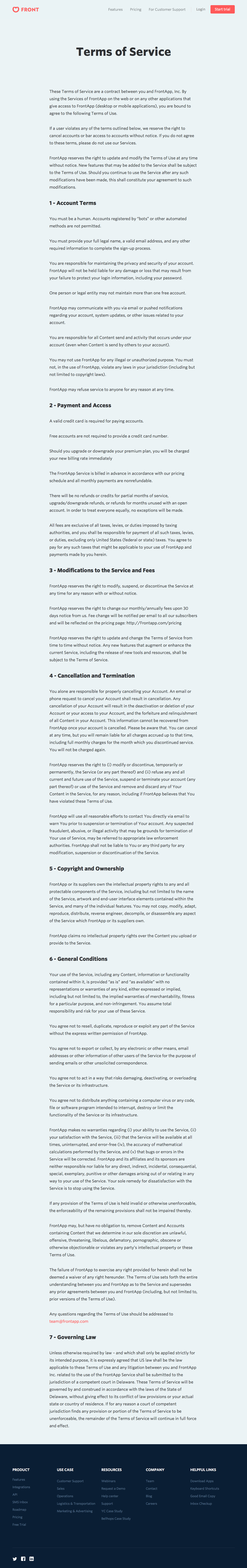 2019 Terms and Conditions Template Generator