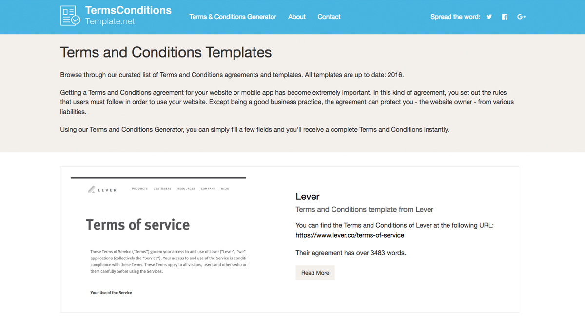 Terms and conditions template generator free 2018 for Terms and conditions of service template